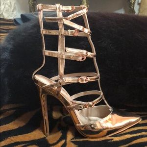 Rose gold cages heel 6